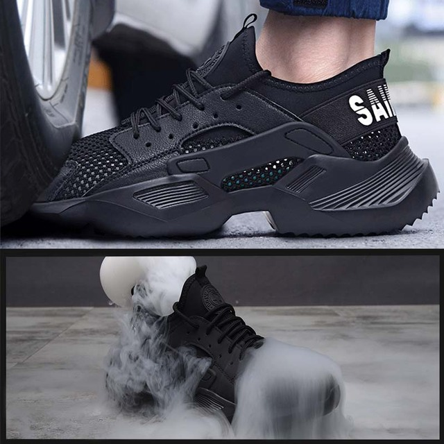 New exhibition Work Safety Shoes 2019 fashion sneakers Ultra-light soft bottom Men Breathable Anti-smashing Steel Toe Work Boots 2
