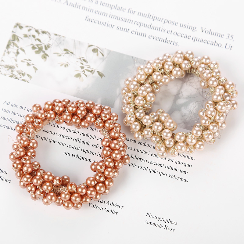 Fashion Pearls Bead Elastic Rubber Hair Bands Elegant Headwear Women Girl Hair Rope Scrunchy Ponytail Jewelry Hair Accessories