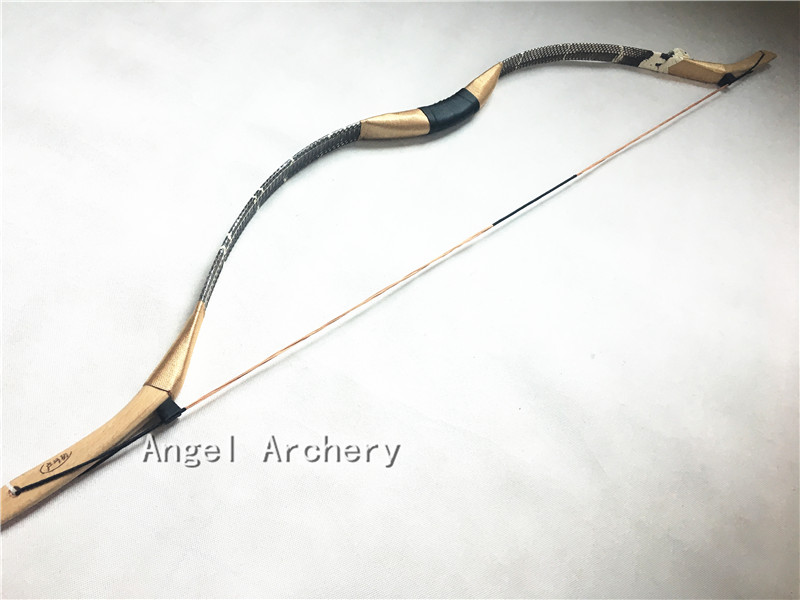 New Real  snakeskin longbow Handmade recurve bow  Archery longbow Hunting20lb 60lb snakehead-in Bow & Arrow from Sports & Entertainment    1