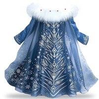 Flower Princess Girl Dress Baby Girl Anna Elsa Dresses For Girl Wedding Party Dress