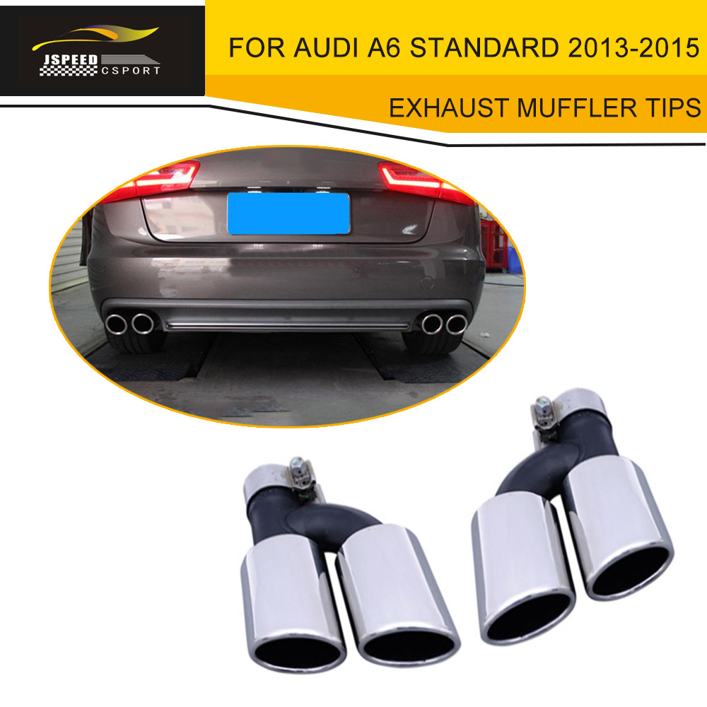 Stainless Steel Car Exhaust Muffler End Tips For Audi A6