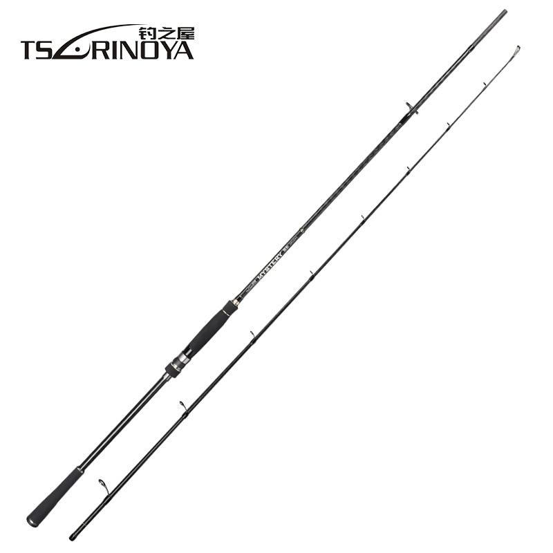 TSURINOYA MYSTERY 2.4m/2.7m M/MH Power Spinning Fishing Rod FUJI Accessories Carbon Lure Rod Vara De Pesca Fibra De Carbono mystery mh 1103