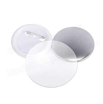 100 sztuk zestaw 58MM plastikowe puste znaczek przypinka przycisk części dostaw na ubrania okrągła przypinka materiały DIY rzemiosła tanie i dobre opinie ZMS-0017 100-499 Sztuk