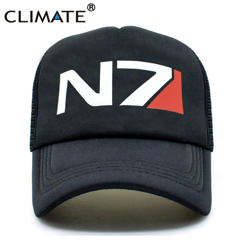 CLIMATE EFFECT N7 Cap Men N7 Logo MASS Game Trucker Caps Cool Summer Caps Baseball Mesh Net Trucker Caps Hat For Men