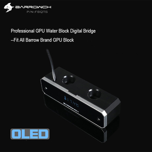 Image 3 - باروش GPU تبريد المياه الرقمية عرض ميزان الحرارة ل وحدة معالجة خارجية للحاسوب G1/4 وحدة معالجة الرسومات كتلة تجديد جسر مرآة نوع ، FBQTS
