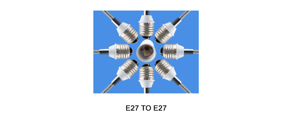 Extend Base LED Light Lamp Adapter Converter Socket  (7)