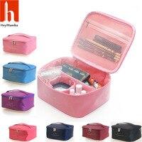 HeyMamba Large Capacity Cosmetic Bag Korean Makeup Bag Women Portable Storage Bag Travel Beauty Bag Organizer