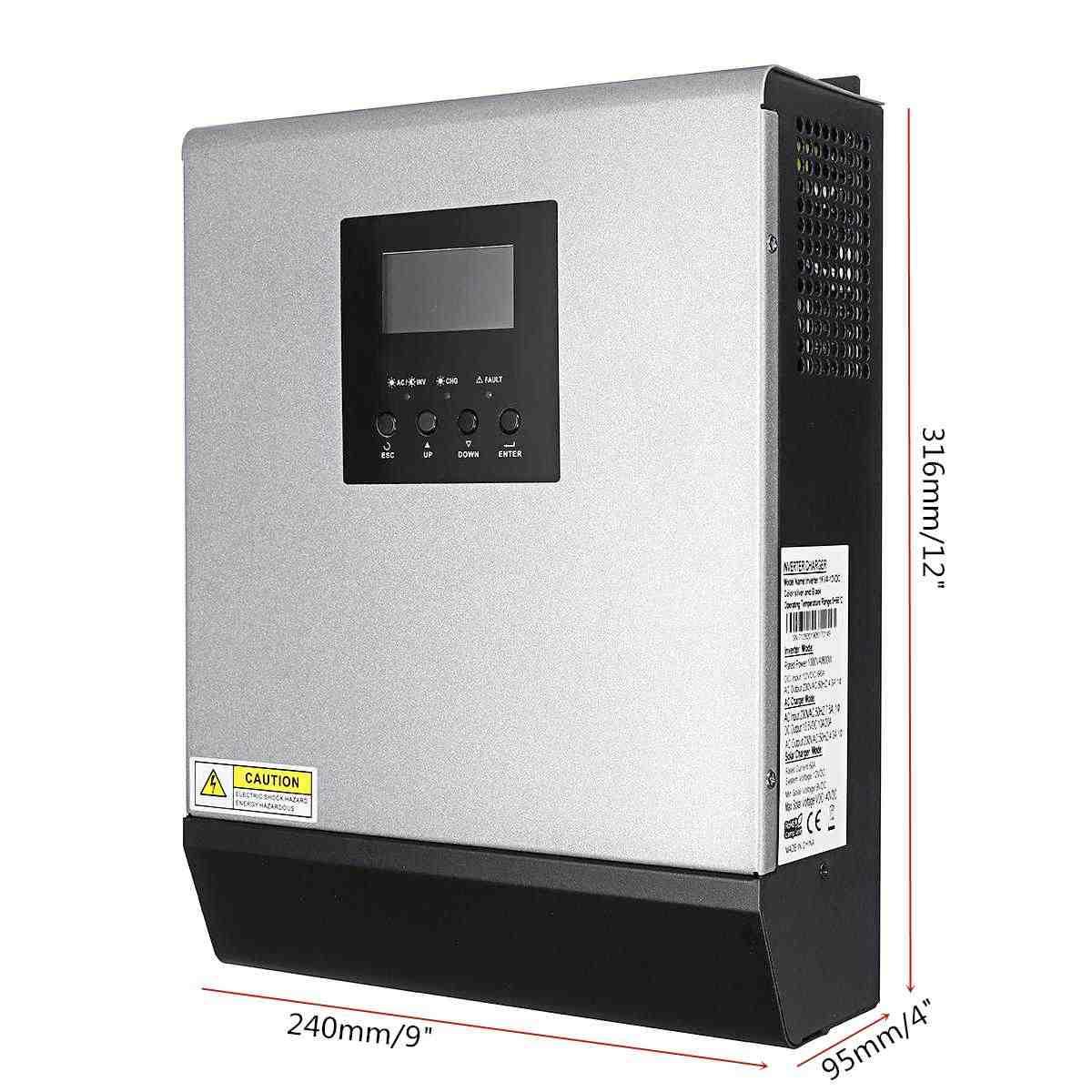 1KVA שמש מהפך 50A מובנה MPPT PWM מטען סולארי בקר LCD מסך טהור סינוס גל שמש פנל רגולטור 800 W 220 V