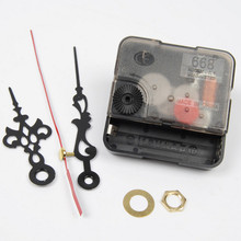 New Quartz Clock Movement Mechanism Long Spindle Red Hands Repair DIY Kit Set S