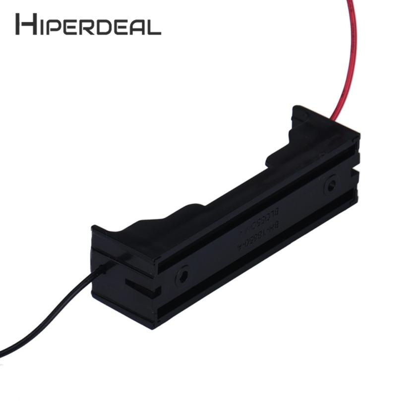 HIPERDEAL New Box Holder For 1 x 18650 Black With Wire Leads Plastic ...