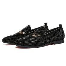 JNNGRIOR Top Qualité 39-43 Fond Rouge Hommes Chaussures De Mode Pissenlit  Spikes Hommes Mocassins Rivets Casual Robe Chaussures . 1defe63925b
