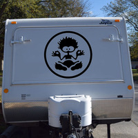 1x Funny Boy Travel Trailer Camper Van Graphics Motor Home Vinyl Graphics Kit Decals Car Stickers