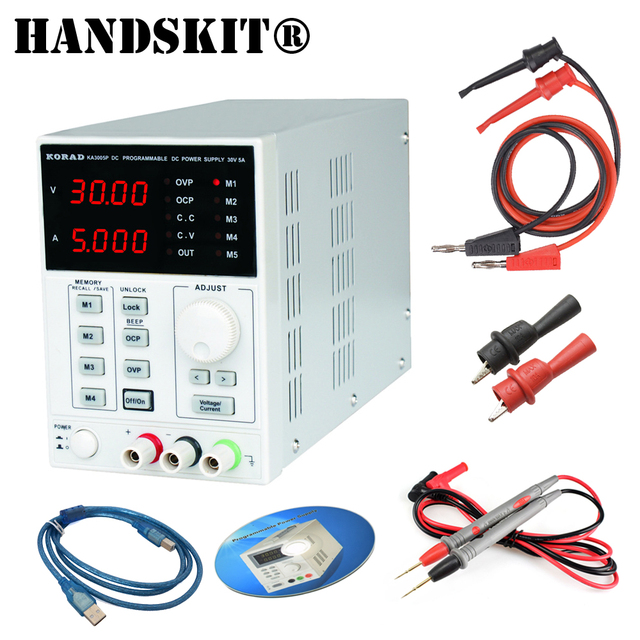 US $89 37 32% OFF|30V / 5A KA3005P Programmable Precision Adjustable DC  Linear Power Supply Digital Regulated Lab Grade with USB and software-in