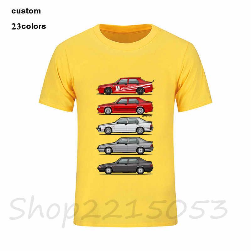 Новый крутой стек Alfa Romeo футболки 75 Tipo 161 162B Milanos с короткими рукавами хлопковые футболки мужские лучшие отцы день мото футболка