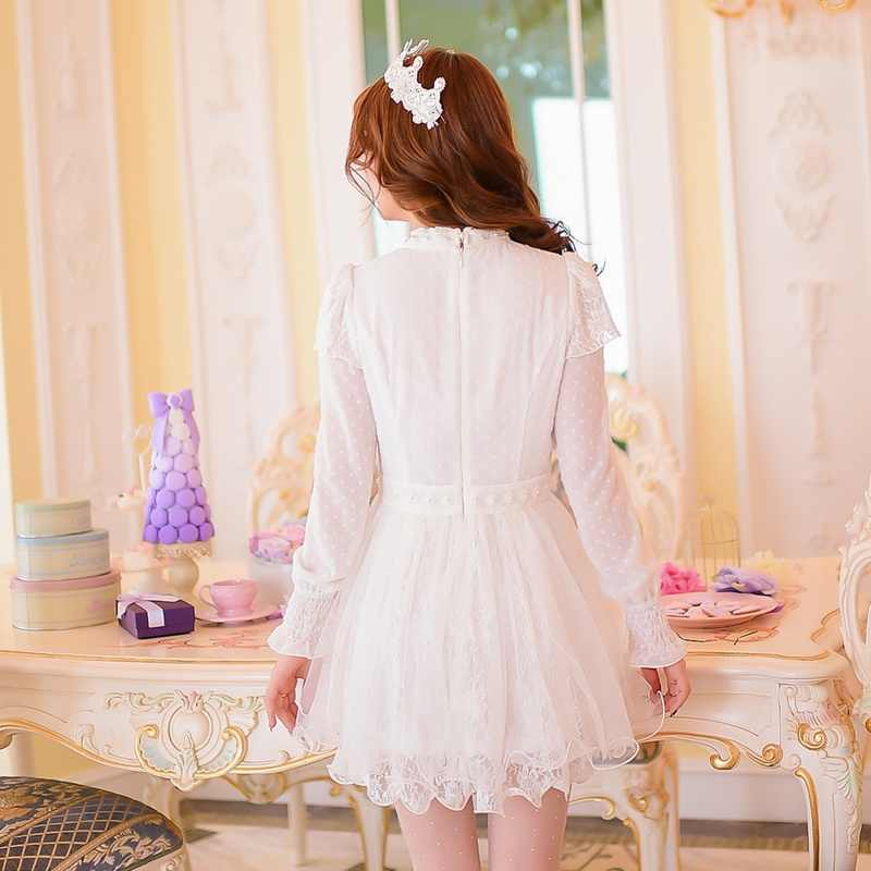 c8e286fde6b14 Princess sweet lolita dress Candy rain in spring and summer in 2016 new  sweet white stitching Chiffon princessC16AB5668