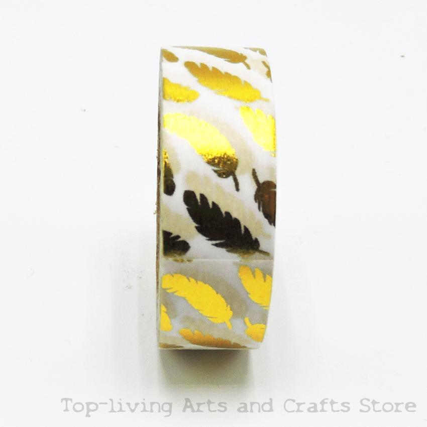 Feather Foil Washi Tape Set Japanese Stationery Scrapbooking Decorative Tapes Adhesive Tape Kawai  Adesiva Decorativa