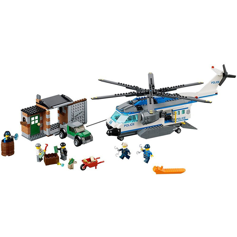Pogo Gifts 10423 Helicopter Stations Model Urban Police City Building Blocks Bricks Toys Compatible Legoe 0367 sluban 678pcs city series international airport model building blocks enlighten figure toys for children compatible legoe