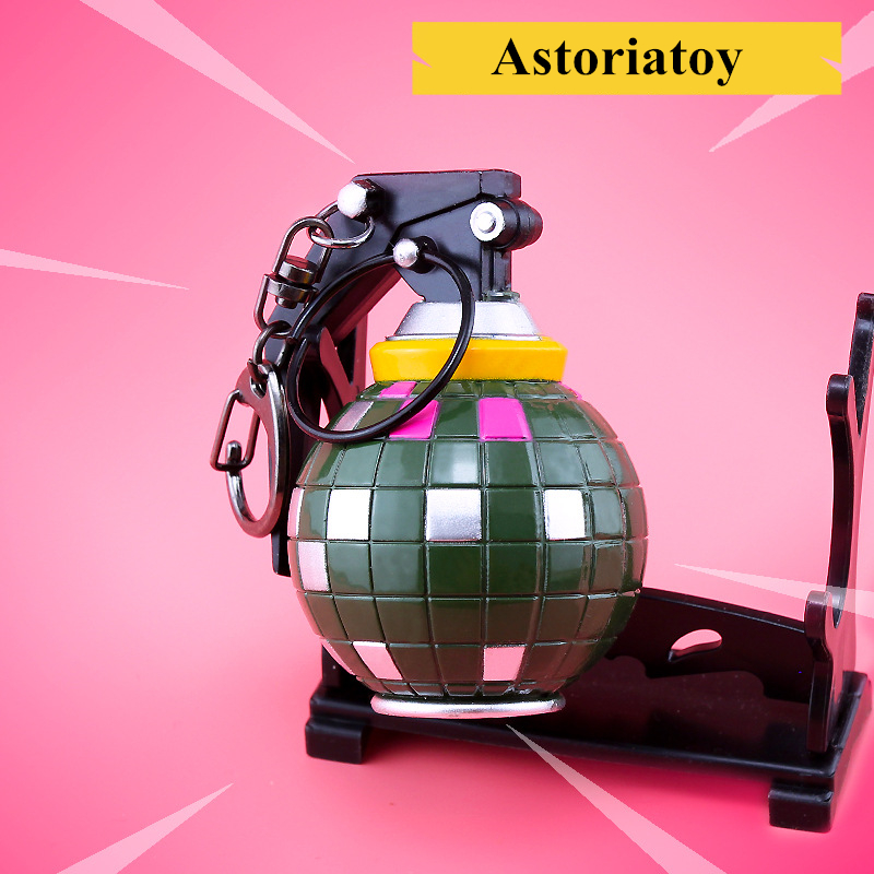 Kids Toy Weapons Collection-Decoration Antitank-Bomb-Keychain Alloy Battle Royale Fortnight