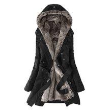 Women Winter Jacket 2019 Casual Ladies Basic Coat button fur