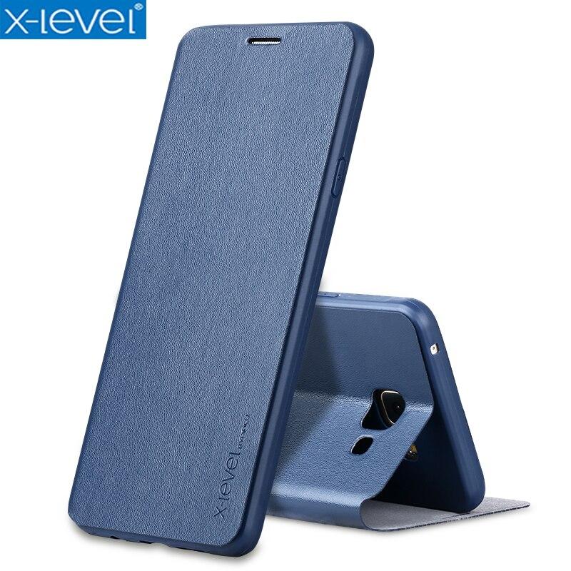 X-Niveau Livre En Cuir Flip Cas Pour Samsung Galaxy A5 2017 A520 A520F Ultra Mince En Cuir D'affaires Funda Couverture cas