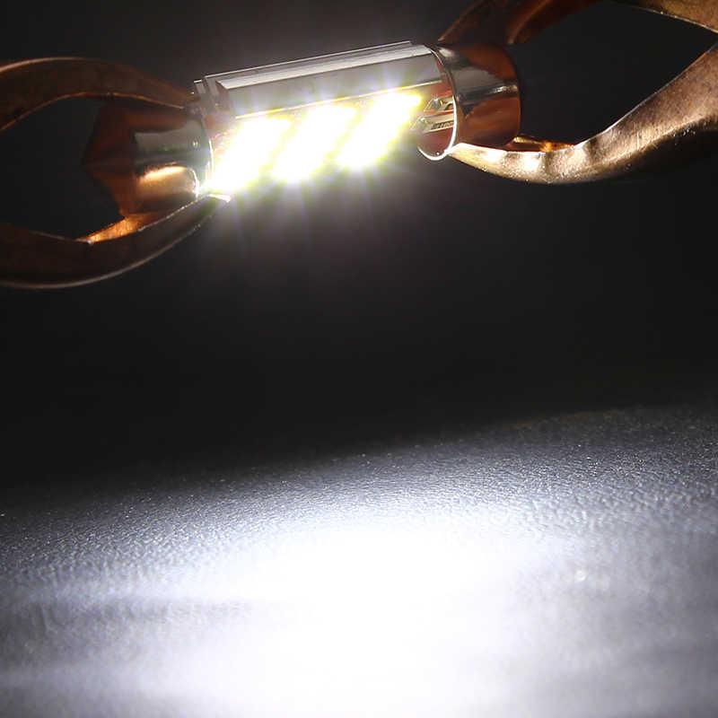 LEEPEE 36mm LED araba lisansı plaka ampul DC12-24V oto Dome okuma işıkları lambaları Festoon 4014 12 SMD ışık kaynağı aksesuarları