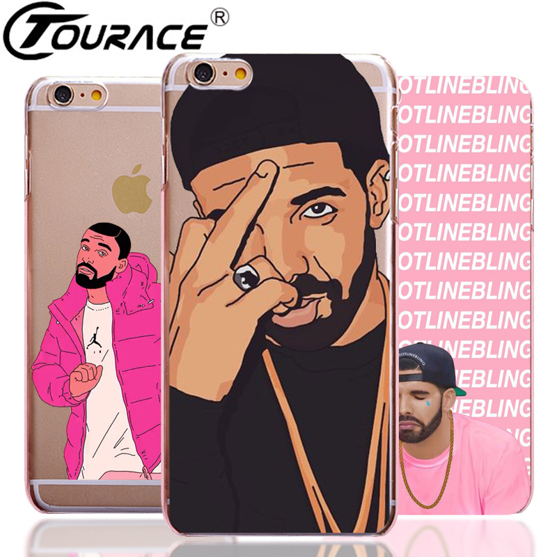 Coque Drake Capinhas For Iphone 7 7plus Case Fashion Transparent Hard PC Phone Bag Cover Case For Iphone 6s SE 6 Plus 5 Fundas