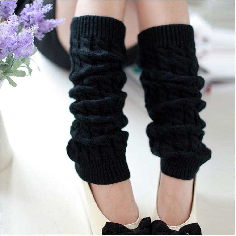 Страуса горячая Распродажа новая мода высокое качество повседневные женские теплые зимние классические вязаные гетры новые - Цвет: Черный