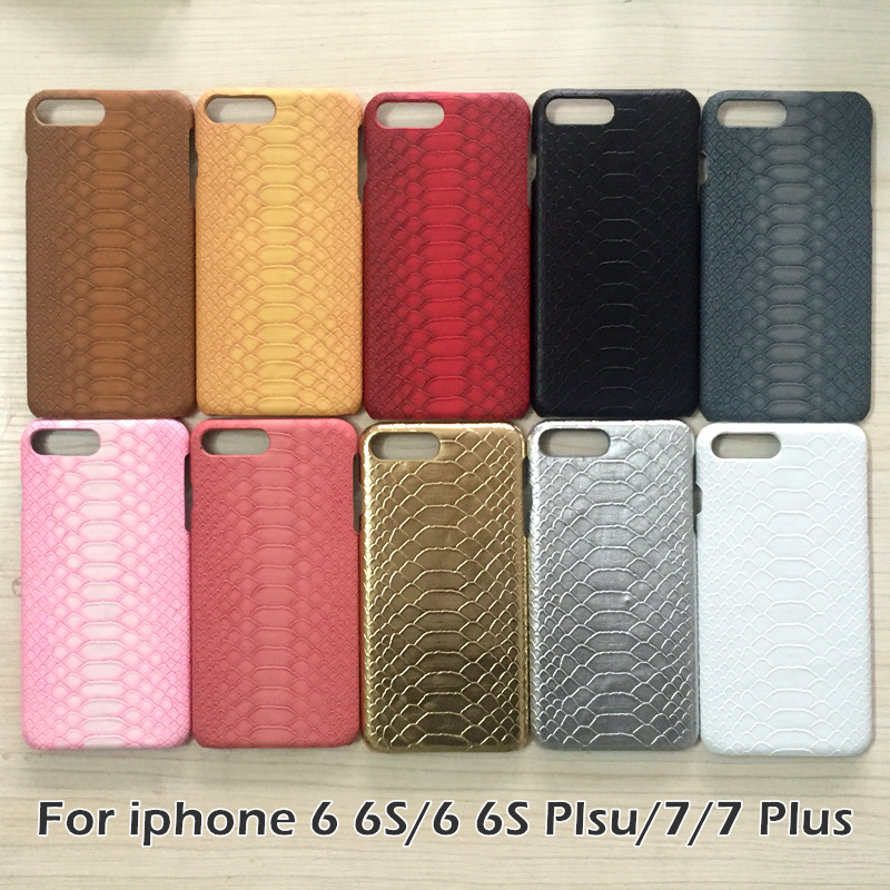 LoveCase brand Snake Skin Leather phone cover case For Apple iPhone 6 6S 6Plus 6sPlus 7 7Plus high-quality PU Back Cover