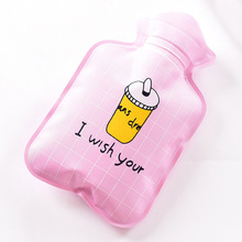 Mini Handy Warm Hand Treasure Cartoon  PVC Water-filled Type Hot Water Bag Bottle Container @LS