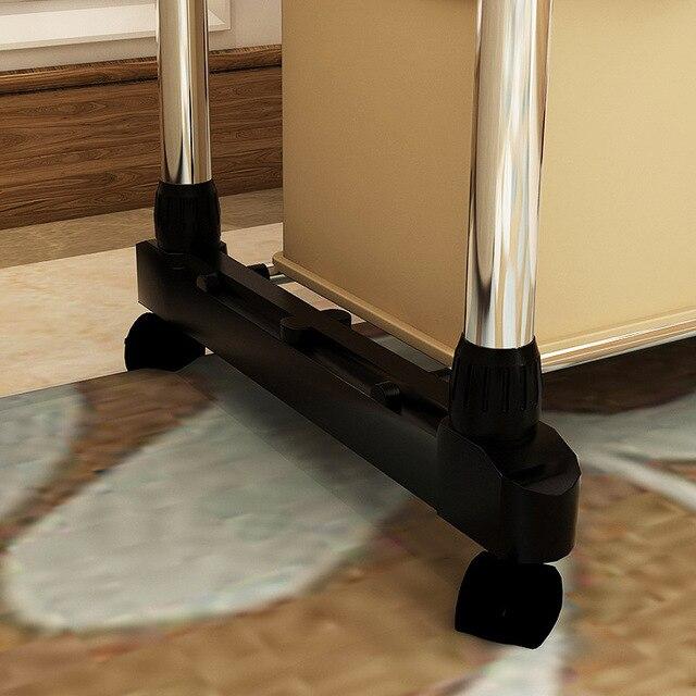 Magia Da União Único Pólo Dobrável de Metal Roupas Cabide Pendurado Vestuário Vestido de Secagem Rack Com Rodas Móveis Da Sala