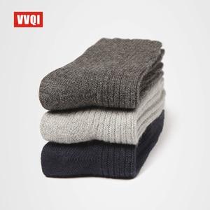 Image 3 - VVQI Winter mens wool socks warm floor socks export quality Brand socks business 4packslot black no box