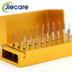 30 PCS/Set Dental Diamond Burs Drill Set Disinfection + Aluminum Block High Speed Handpiece Holder Dental Tool Set Free Shipping