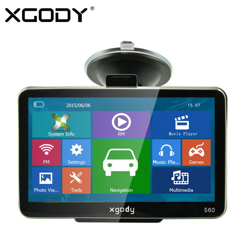 XGODY 5 inch Car GPS Navigation 128MB+8GB SAT NAV Truck Navigator North/South America Europe Free Maps 2017 Russia Navitel Map new 7 inch hd car gps navigation fm bluetooth avin map free upgrade navitel europe sat nav truck gps navigators automobile