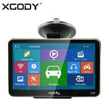 XGODY 560 5 cal Samochód Nawigacja GPS 128 MB + 8 GB SAT NAV nawigator FM 2016 Europa Północna/Ameryka Południowa Dożywotnią Darmowe Mapy aktualizacja