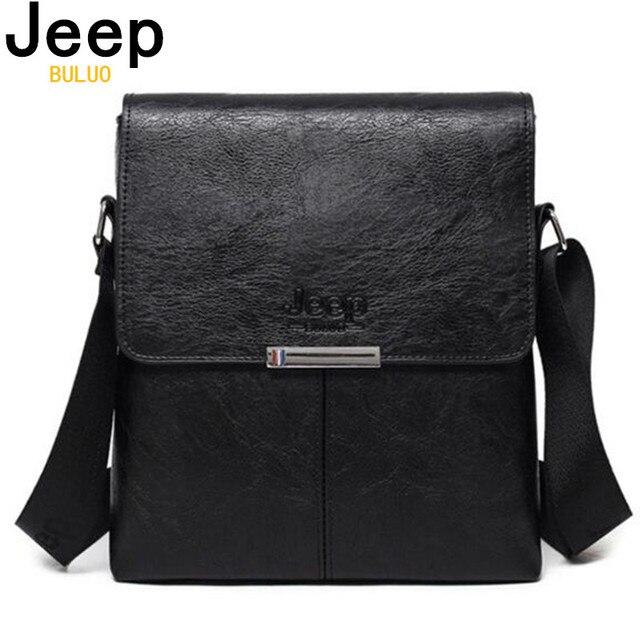 5f881b8bf8f8 JEEP BULUO Для мужчин сумка Новая мода Для мужчин s сумки на плечо высокое  качество кожа
