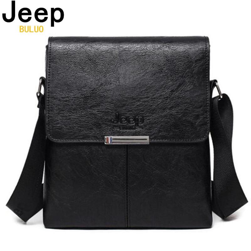 aea9f22ebb96 Jeep buluo мужская сумка Новая мода мужские s сумки на плечо высокое  качество кожа Повседневная сумка-мессенджер бизнес мужская Сумка-тоут сумки.