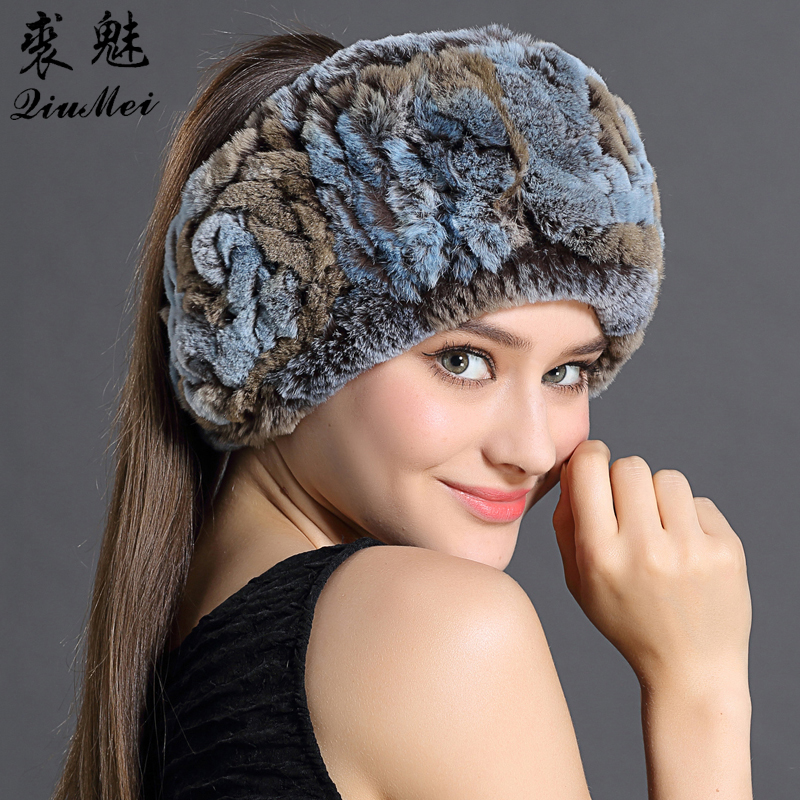 hair band styles for hair rex rabbit fur hair band winter scarves fashion 1825