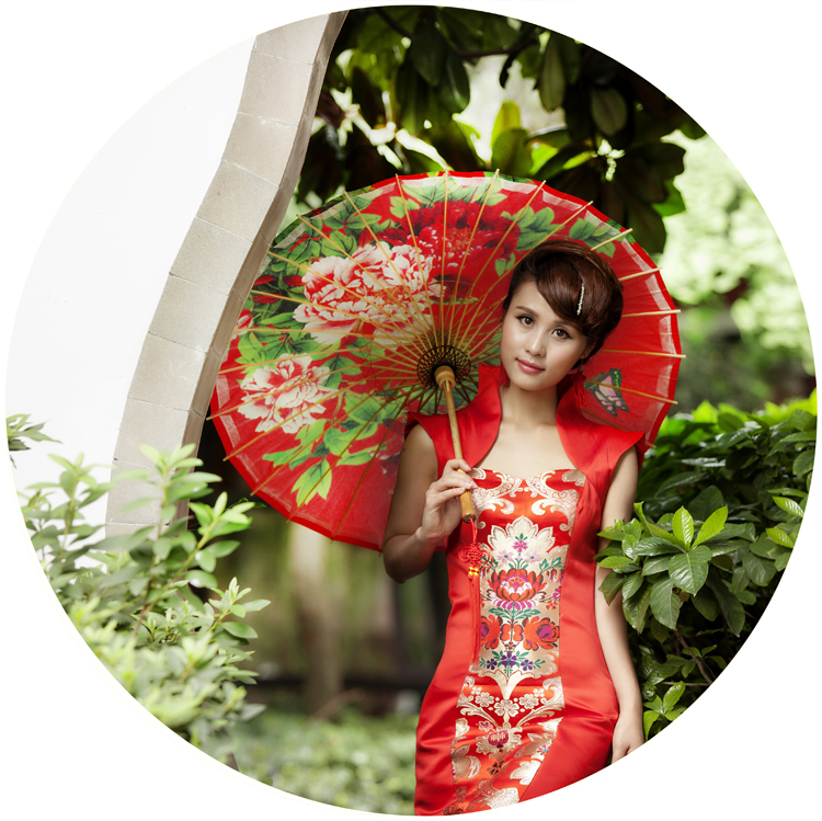 Free shipping red elegant peony painting umbrella waterproof and sunshade wedding props umbrella oiled paper umbrella 1 design laser cut white elegant pattern west cowboy style vintage wedding invitations card kit blank paper printing invitation