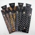 Moda de alta qualidade Leopardo Homens Clip-on Suspensórios impresso Y-Forma Elástica Ajustável Suspensórios masculinos acessórios para homem
