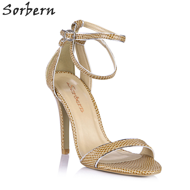 Sorbern Khaki Slingbacks Sandals High Heel Comfortable Summer Shoes Womens Sandles Party Heels British Style Lady Sandals New недорго, оригинальная цена