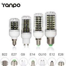 E26 E27 E12 E14 G9 GU10 LED لمبة ذرة 4014 SMD ضوء 10W 20W 25W 30W الإضاءة 36 المصابيح 72 المصابيح 96 المصابيح 138 المصابيح أمبولة بقيادة الأضواء