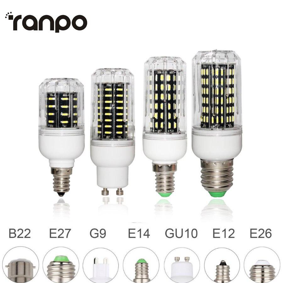 E26 E27 E12 E14 G9 GU10 LED D'ampoule De Maïs 4014 SMD Lumière 10 W 20 W 25 W 30 W Éclairage 36 LED s 72 LED s 96 LED s 138 LED s Ampoule LED Projecteur