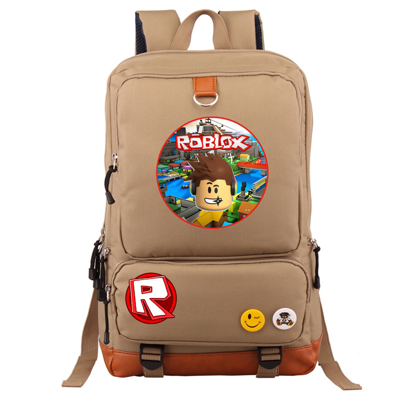 High Quality 2018 New Roblox Printing Backpack Canvas Laptop Backpack Roblox School Bags Women Travel Backpack Mochila Feminina 2017 printing owl backpack good quality canvas backpack college school backpack flowers women rucksack backpack mochila t20