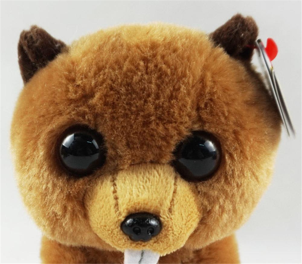 deb882976b0 2019 Pyoopeo Ty Beanie Babies 6 15cm Richie Beaver Plush Regular ...
