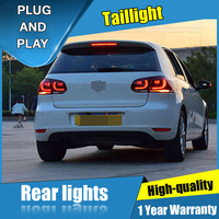 4PCS Car Styling for VW Golf 6 Taillights 2009 2012 for Golf 6 LED Tail Lamp+Turn Signal+Brake+Reverse LED light