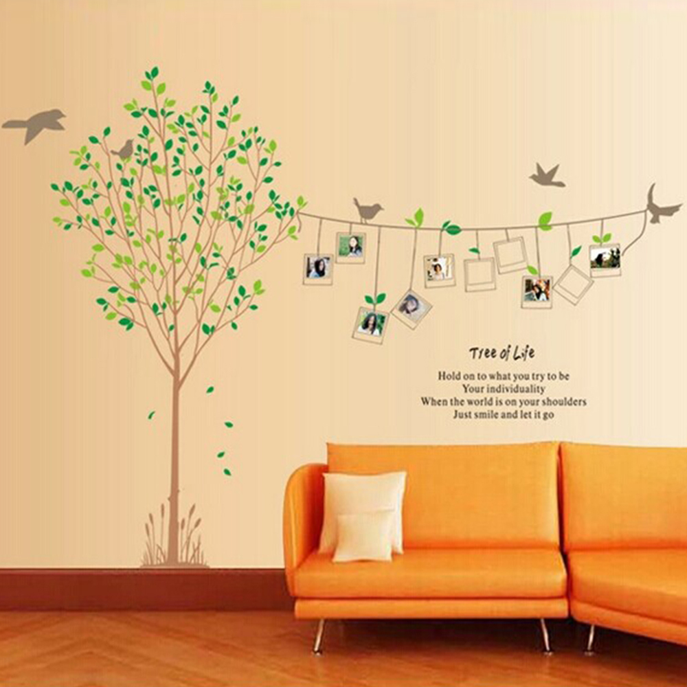 DIY XXL 2pcs Photo Frame Tree Vinyl Wall Decals for Living Room ...