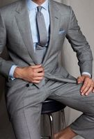 Light Grey Suit Men Wedding Dress Notch Lapel Ball Form Suits Man Wedding Dress And Fashion