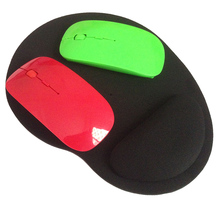 High Quality Promotion 2.4 GHz 6 color Wireless USB Optical Mouse & Mouse pad SET for APPLE Macbook Mac Mouse