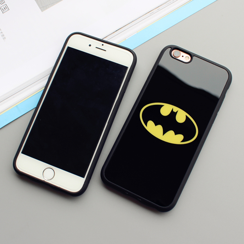 sale retailer 299b8 de226 JAMULAR Mirror Superman Batman Case For iPhone 7 Plus 6 6s 8 Plus Cases  Back Cover For iPhone X 6S 5 5S SE Covers Fundas Coque-in Fitted Cases from  ...
