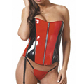 Women red and black latex corset sexy lingerie for women gummi 1mm rubber bustier plus size hot sale Customize service